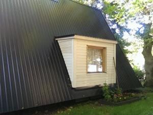 Haljastus, katuseplekk, katuse ehitus, juurdeehitis
